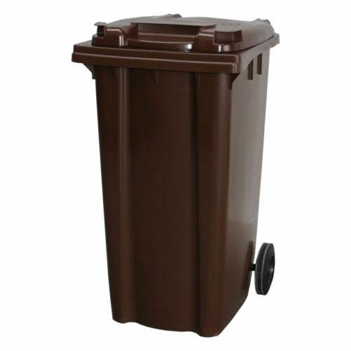 Brown 240L Wheelie Bin