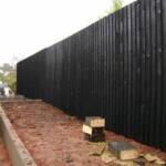 Black feather edge fence