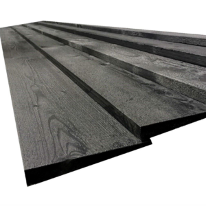 Black Painted Treated Feather Edge Board 175mm x 32mm | 1.2m (4ft)
