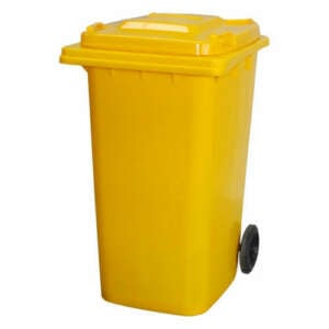 Yellow 120L Wheelie Bin