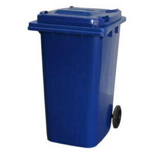 Blue 120L Wheelie Bin