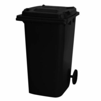 240 Litre Wheelie Bin | Black
