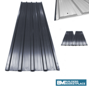 corrugated metal roofing sheet in black