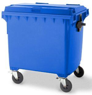 Blue 1100L Wheelie Bin