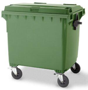 Green 1100L Wheelie Bin