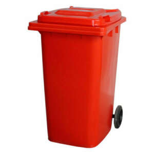 Red 240L Wheelie Bin
