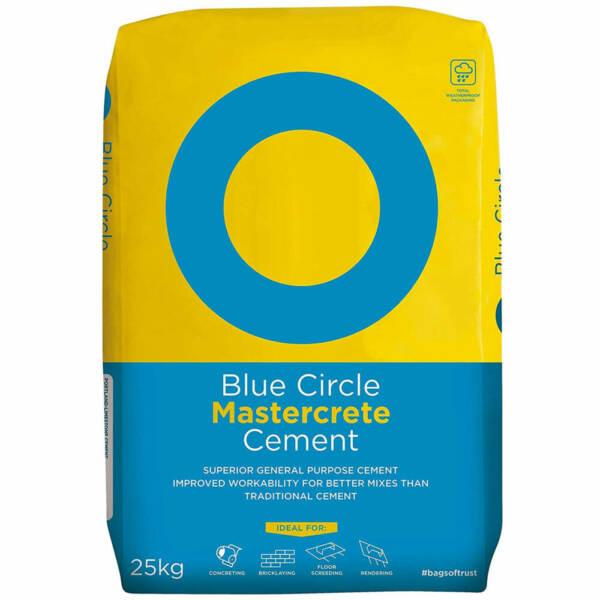 Blue Circle Mastercrete 25kg Bag or Cement