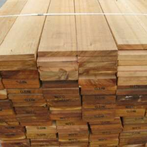 sawn western red cedar 25x152mm