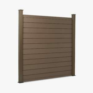 Walnut Brown Composite Fence Panel