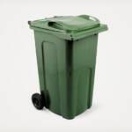 standard household green council wheelie bin