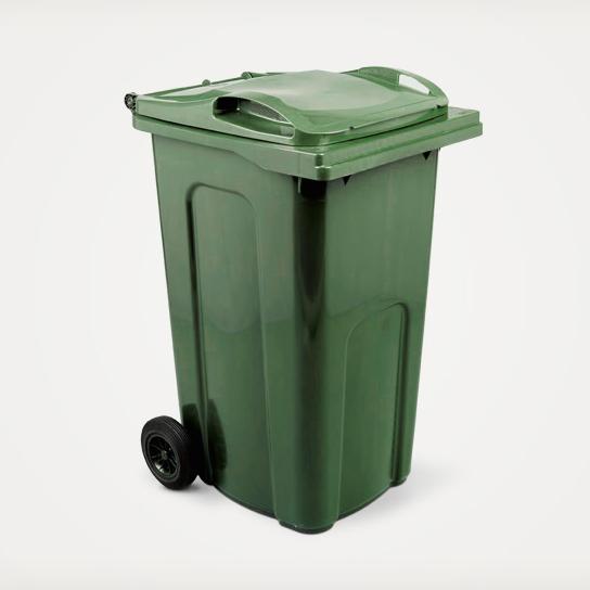 standard household council green wheelie bin