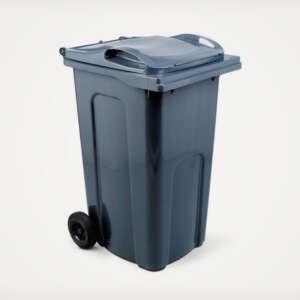 grey household council wheelie bin