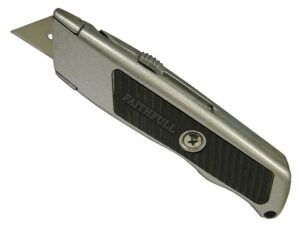 faithfull trimming knife retractable blade