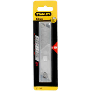 stanley 18mm snap off blades 10 pack